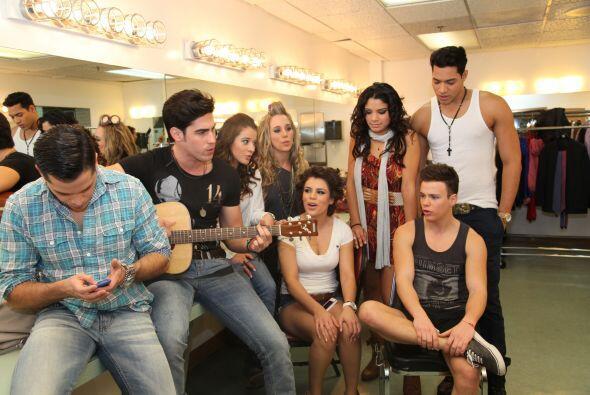 Los ocho eliminados estuvieron invitados al Gusman Center para apoyar a...