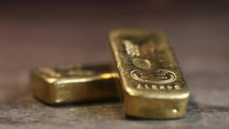 Una barra de oro como esta fue robada de la exhibición en Florida.