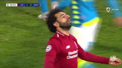 Tiro desviado de Mohamed Salah