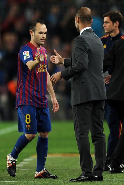 Luego salió Andrés Iniesta.