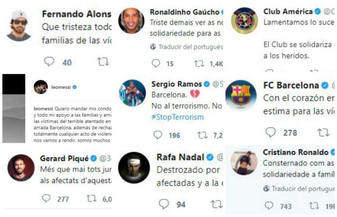 El mundo del deporte se solidariza con las víctimas de Barcelona BCN pri...