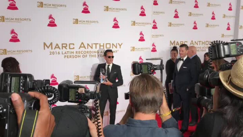 Marc Anthony acaparó las cámaras en su homenaje