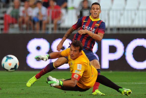 El BArcelona fue mejor que el Almería y se llevó la victoria.