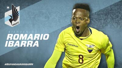 Minnesota United se refuerza con el seleccionado ecuatoriano Romario Ibarra