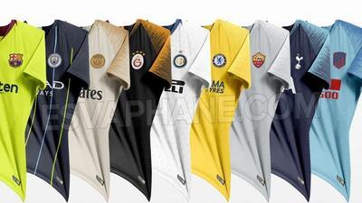 Filtran jerseys de visita de Barcelona, PSG, Chelsea y City para 2018-19