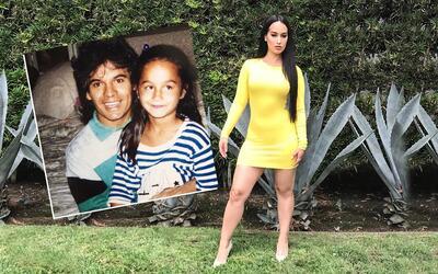 Victoria 'La Mala' Ortiz a los cinco años con Juan Gabriel y la c...
