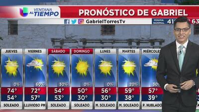 Se espera un jueves con condiciones soleadas en San Antonio