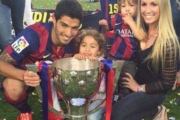 Luis Suárez festejó con su familia y aunque no estuvo en toda la tempora...