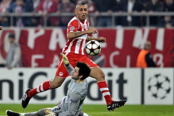 El Olympiacos aprovechó la ocasión para ganar 1-0.