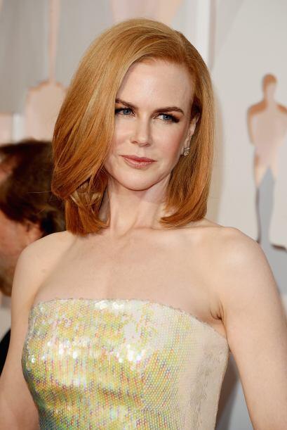 Nicole Kidman fue a lo seguro con un maquillaje muy discreto y un labial...