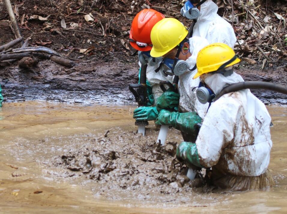 ultimo derrame-Supervision del Ministerio de Energia y Minas