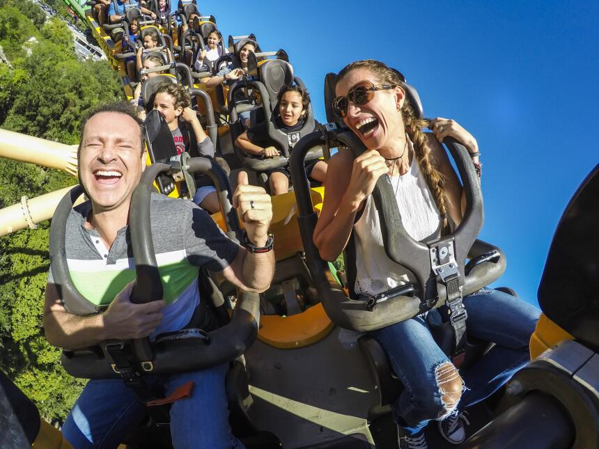 Alan y baby Michelle en Busch Gardens Tampa