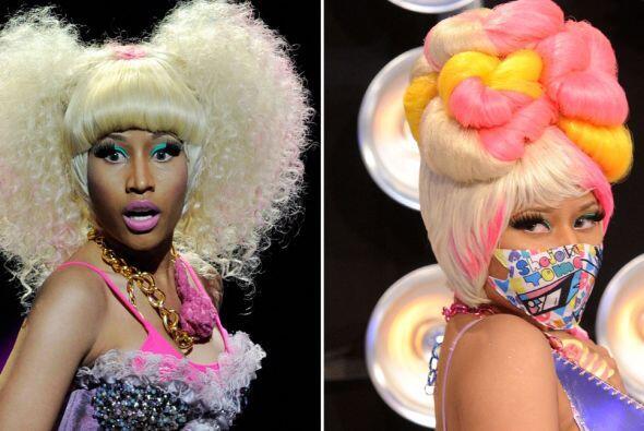 Nicki Minaj tiene una extraña afición por las pelucas, ¡y estas son las...