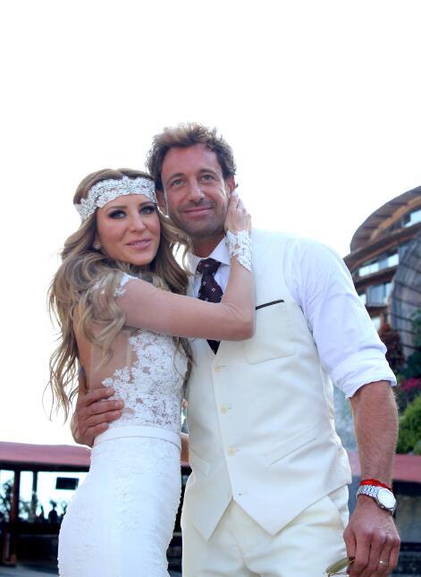 Geraldine Bazán y Gabriel Soto boda