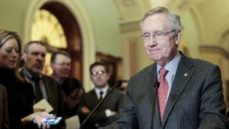 """""""Ha sido una hazaña hercúlea"""", dijo Harry Reid, líder de la mayoría demó..."""
