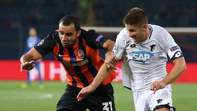 Shakhtar y Hoffenheim empataron a dos goles y se repartieron los puntos en la Champions League