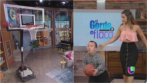 Clarissa y Carlitos 'El productor' probaron sus habilidades en el balonc...