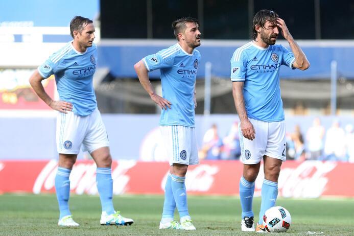 Andrea Pirlo, Frank Lampard y David Villa en New York City FC