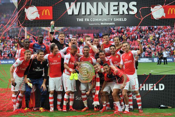 Esta es la ocasión número 13 en que Arsenal logra este tro...