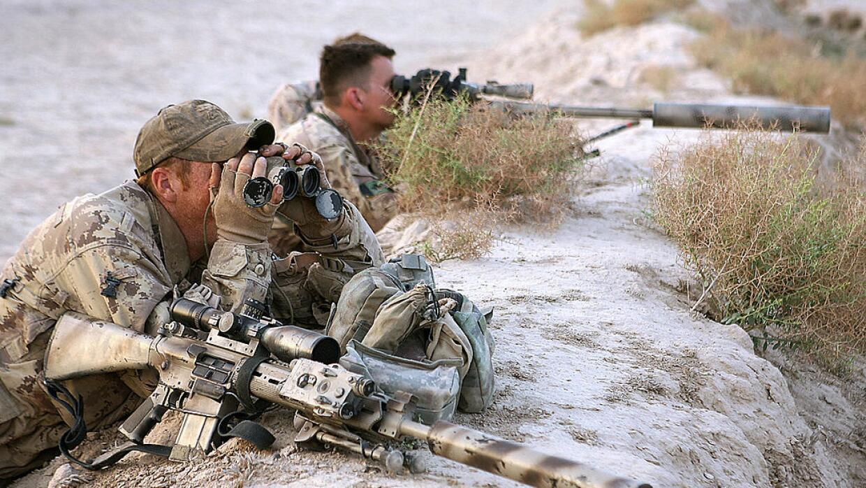 Francotiradores canadienses en Afganistán.