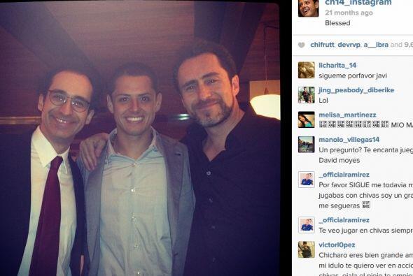 Aficionado al cine, no podía faltar la foto con los Hermanos Bichir, rec...