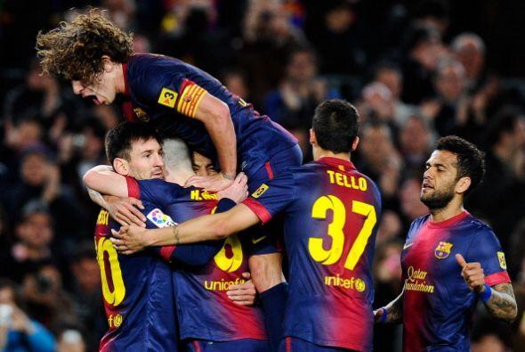 Fue además el gol 40 de Messi en Liga esta temporada.