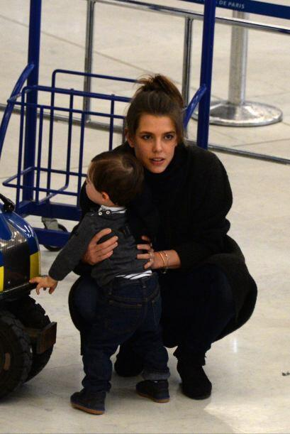 Se nota que Raphaël tiene agotada a su mami.
