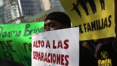 Defensores de los derechos de los inmigrantes, así como líderes y 'dream...