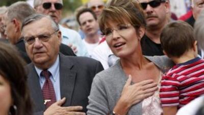 El sheriff Joe Arpaio participó días pasados de un acto del Tea Party en...