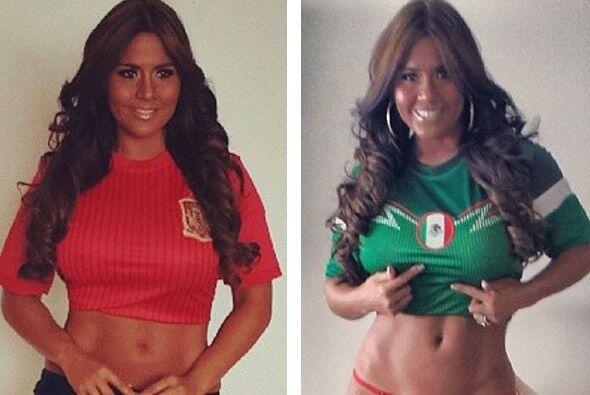 Aunque es fiel seguidora de la selección de su país, se puso sexy con lo...