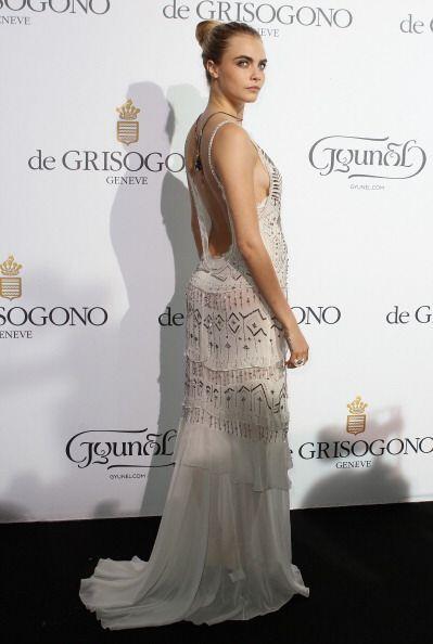 Para la cena De Grisogono, la joven se recató y lució uno de sus 'modeli...