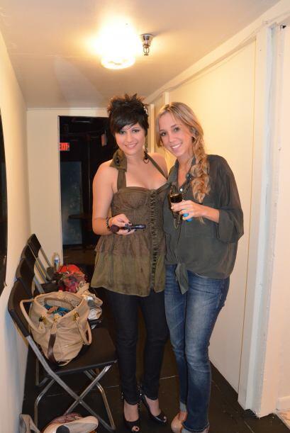 Ingrid y Andrea posaron para Univision.com durante su sesión de belleza.