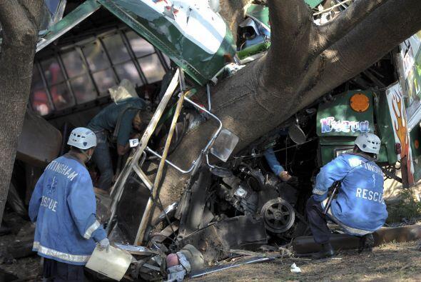 El accidente más lamentable fue el del pasado lunes en la carretera de S...