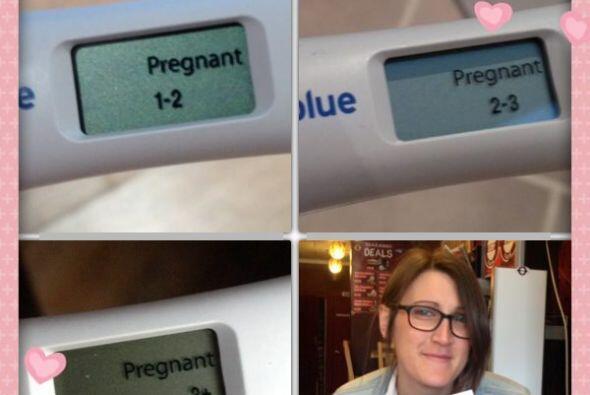 Cuando Hayley se enteró que sería madre fue el día más feliz.