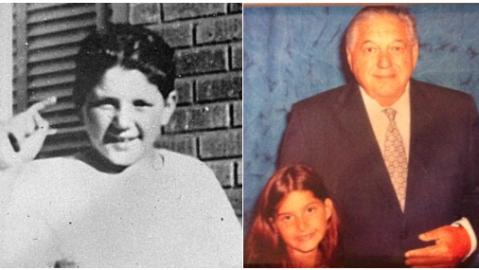 Las fotografías de ella y su abuelo, que la sobreviviente del tiroteo de...
