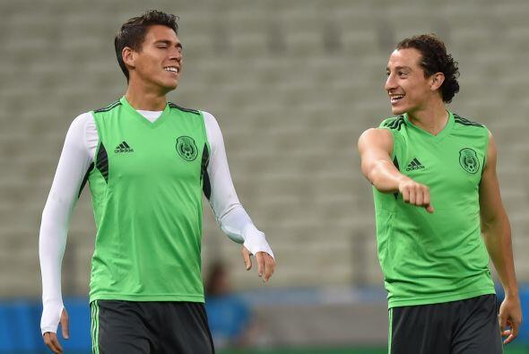 Héctor Moreno y Andrés Guardado disfrutando de la Copa del Mundo.