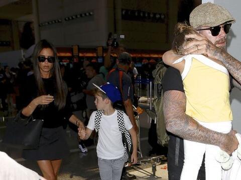 David llegó a Los Angeles con su amor Victoria. Mira aquí...