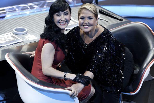 Susana Zabaleta y Lupita D'Alessio, las juezas de canto, se mostraron va...