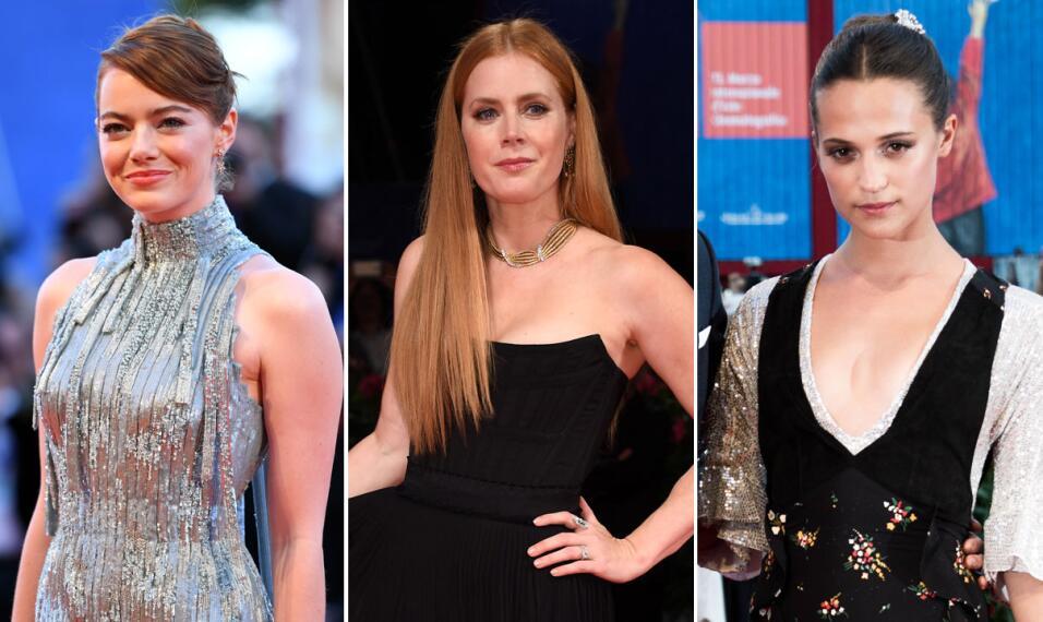 Las famosas llegaron ya a Venecia y deslumbran con sus looks.