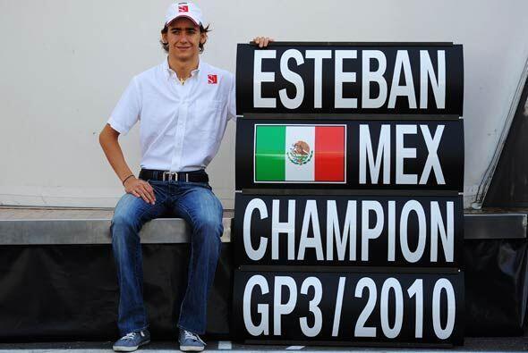 El nuevo campeón de la Serie GP3 de Automovilismo 2010, el mexicano Este...