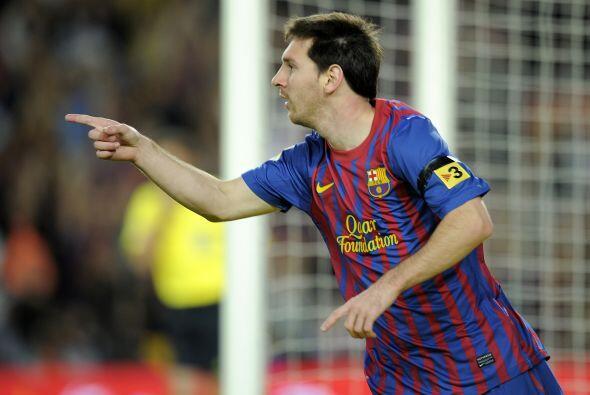 Messi puso el 1 a 0 y los hinchas 'azulgranas' festejaban.