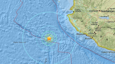 Sismo de magnitud 6.5 en el Pacífico frente a la costa de México