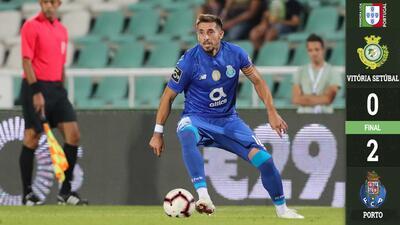 Porto derrotó 0-2 al Setubal en el juego número 200 de Herrera con 'los Dragones'