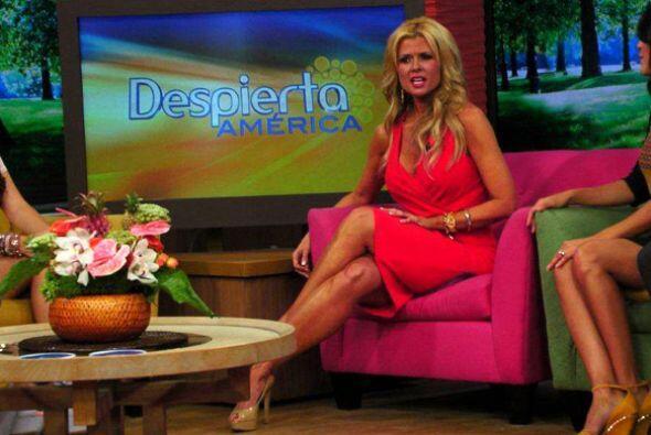 La modelo y conductora cubana Sissi Fleitas fue la estrella invitada a D...