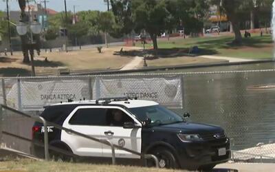 Investigan el hallazgo del cuerpo de un indigente en el lago del parque...
