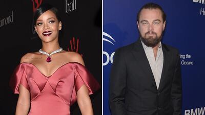 Leonardo DiCaprio y Rihanna coquetean en fiesta