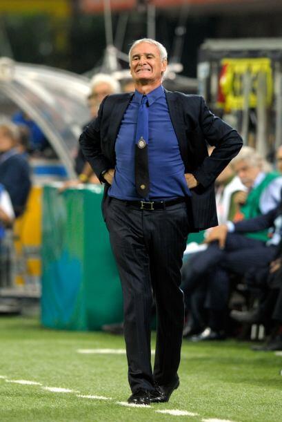 Mientras que el Inter y su DT, Ranieri, fueron un mar de nervios.