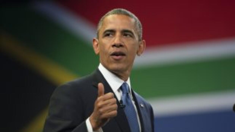 El presidente de Estados Unidos, Barack Obama, en su visita a Sudáfrica.