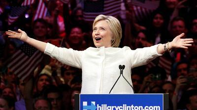 Noche histórica para Hillary Clinton y para las mujeres en Estados Unidos