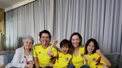 Estos son los famosos colombianos que celebraron el triunfo de su selección en el Mundial